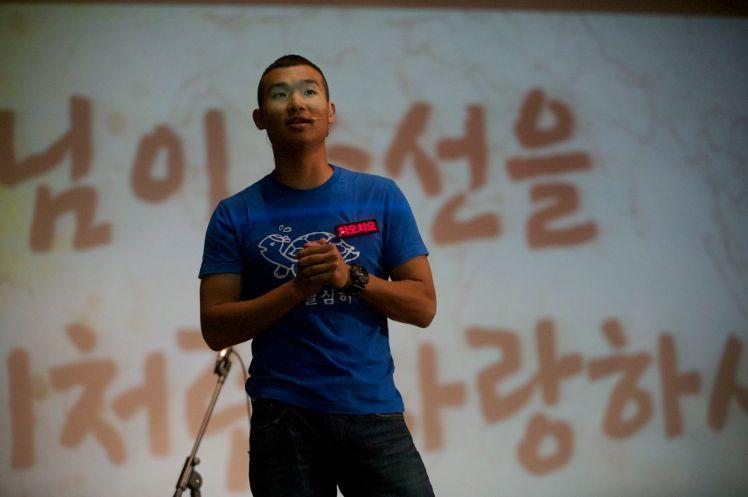 Jeonju, South Korea MC for a church event.
